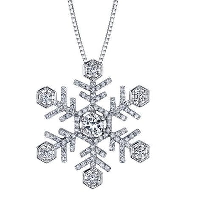 Shelly Purdy Seasons - Snowflake Canadian Diamond Pendant