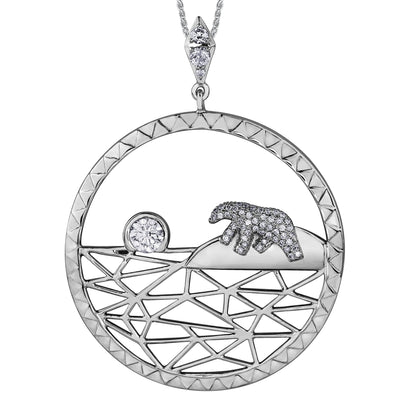 Shelly Purdy Seasons - Arctic Sunrise Canadian Diamond Pendant
