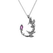 Keith Jack - Silver Humming Bird Necklace