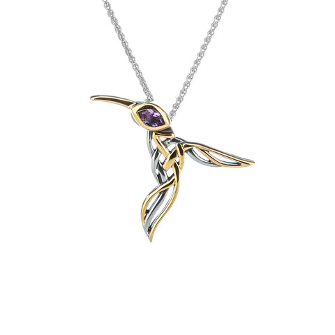 Keith Jack - Celtic Knot Humming Bird Necklace