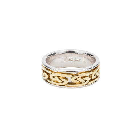 Sterling Silver & 10k Yellow Gold Celtic Knot Ring
