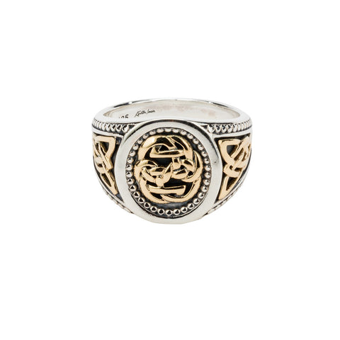 Sterling Silver & 10k Yellow Gold Path of Life Ring
