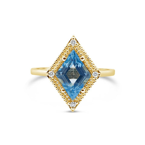 Kite Blue Topaz Ring