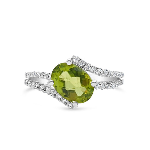 By-Pass Peridot Ring