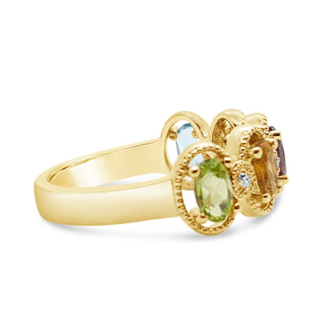 Multi Gemstone Ring
