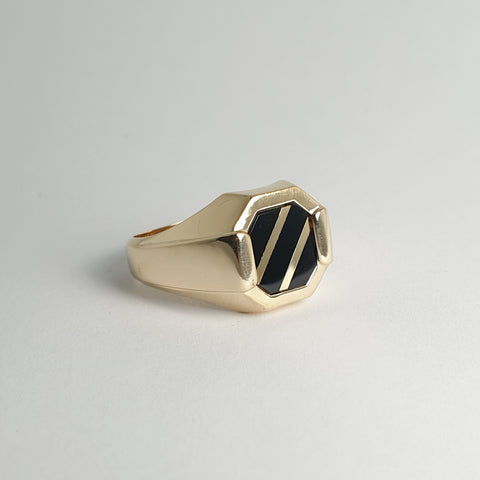 Mens Black Onyx Ring
