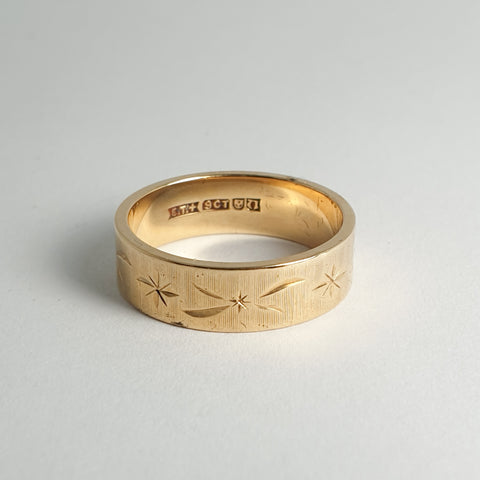 Gold Etched Band