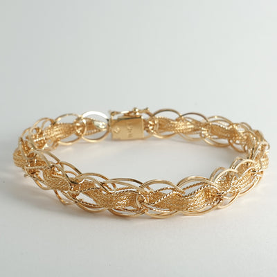 Estate Yellow Gold Charm Bracelet