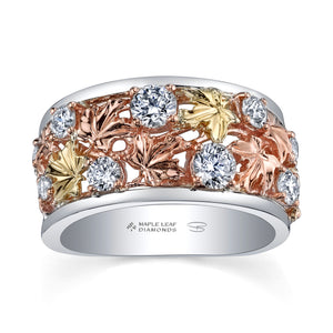 Shelly Purdy Falling Leaves Diamond Ring