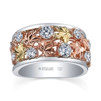 Seasons by Shelly Purdy Falling Leaves Canadian Diamond Ring