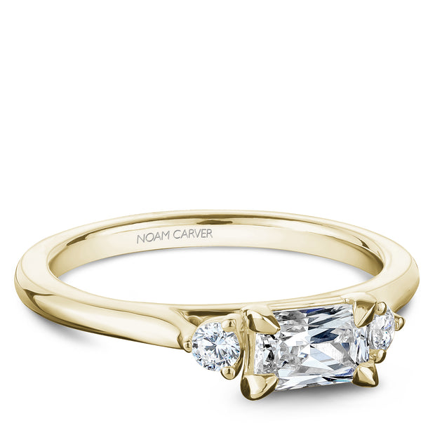 Noam Carver 0.50ct Yellow Gold Diamond Engagement Ring