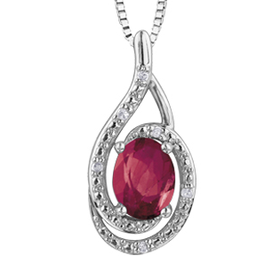 Silver & Genuine Gemstone Pendant