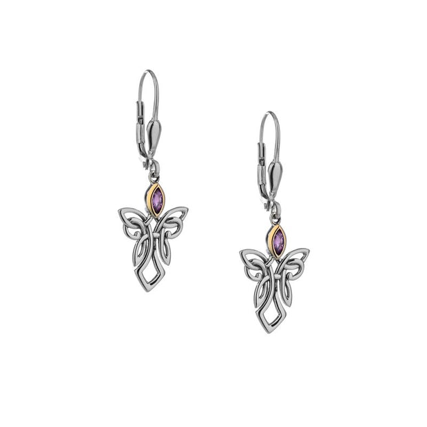 Keith Jack Amethyst Guardian Angel Earrings