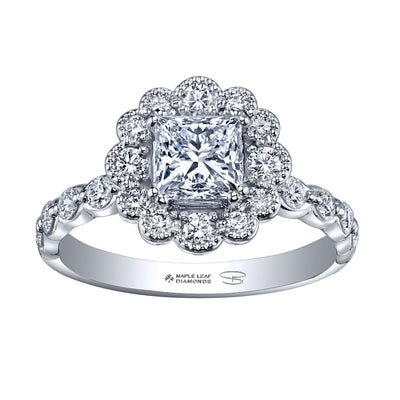 Seasons by Shelly Purdy 18kpd Ice Princess Canadian Diamond Engagement Ring