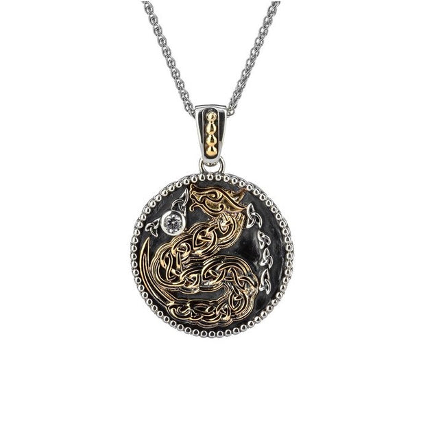 Keith Jack Reversible Dragon Pendant