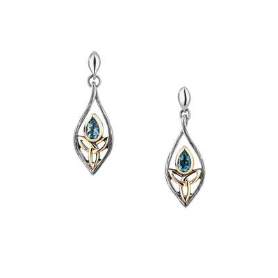 Keith Jack Sterling Silver Guardian Angel Earrings