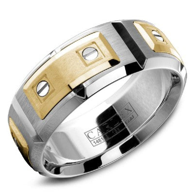 18K White Gold & Yellow Gold Carlex Wedding Band