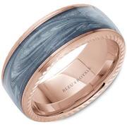 14K Yellow Gold & Blue Enamel Bleu Royale Wedding Band