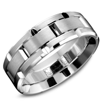 18K White Gold Carlex Wedding Band