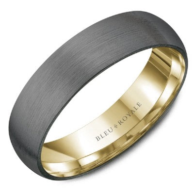 Bleu Royale - Tantalum & 14k Gold Wedding Band