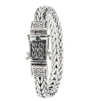 Keith Jack - Heavy Celtic Square Dragon Weave Bracelet