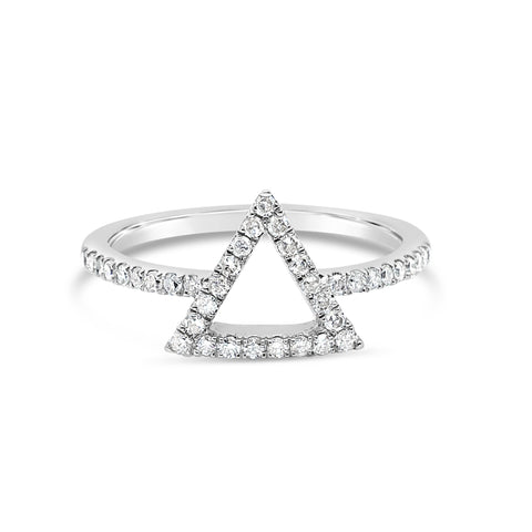 10k White Gold 0.28ctw Diamond Ring