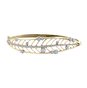 Shelly Purdy Yellow Gold Leaf Bangle