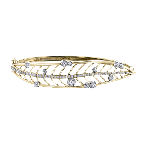 Willow Leaf Canadian Diamond Bangle