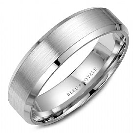 Palladium Bleu Royale Wedding Band