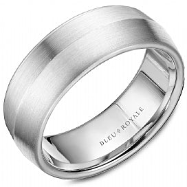 Bleu Royale - Palladium Wedding Band