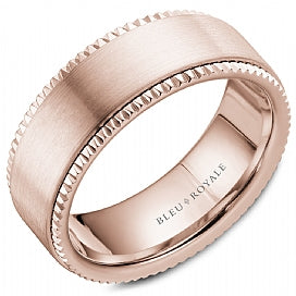 14K Rose Gold Bleu Royale Wedding Band