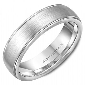 14K White Gold Bleu Royale Wedding Band