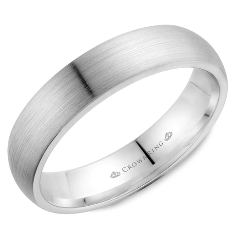 10K Men's CrownRing Sand Paper Wedding Band