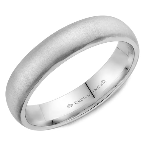 CrownRing - 10k Gold Simple Vertical Sandpaper Wedding Band