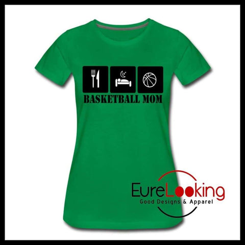 Basketball Mom Eure_Looking_Good_Apparel kelly green S
