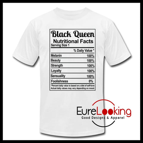 Black Queen Facts Eure_Looking_Good_Apparel white S