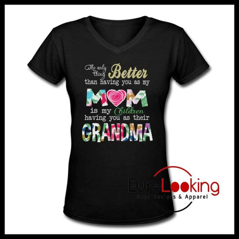 Grandmother- V-Neck T-Shirt Eure_Looking_Good_Apparel S
