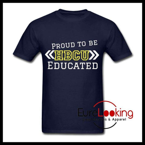 HBCU Educated Men's T-Shirt Blue/Gold Eure_Looking_Good_Apparel S
