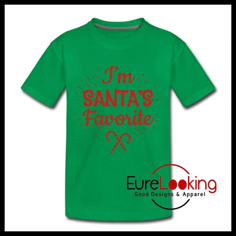 I'm Santa's Favorite Eure_Looking_Good_Apparel kelly green Youth XS