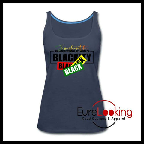 Juneteenth Tank Eure_Looking_Good_Apparel navy S