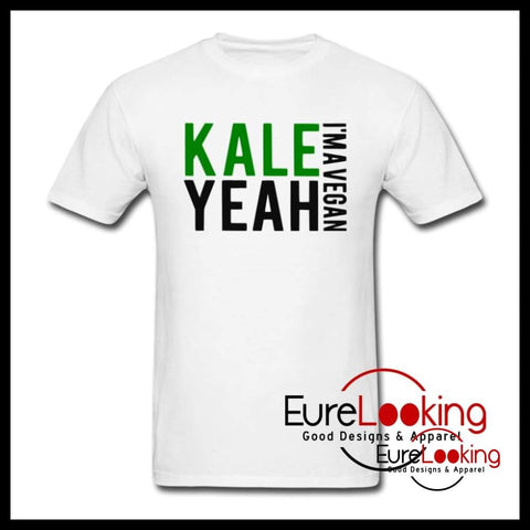 Kale Yeah- T-Shirt Eure_Looking_Good_Apparel white S