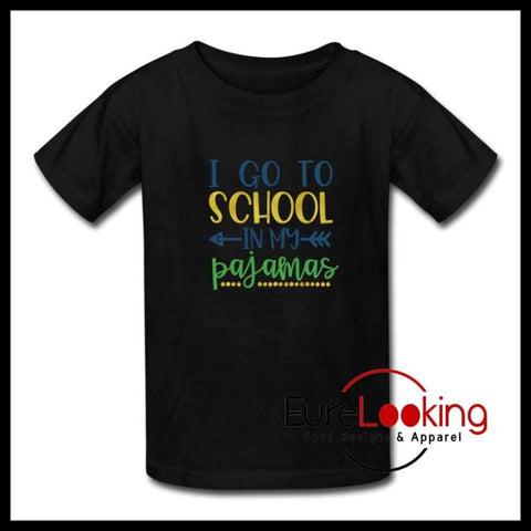 Pajamas School Shirt Kids' T-Shirt Eure_Looking_Good_Apparel black S