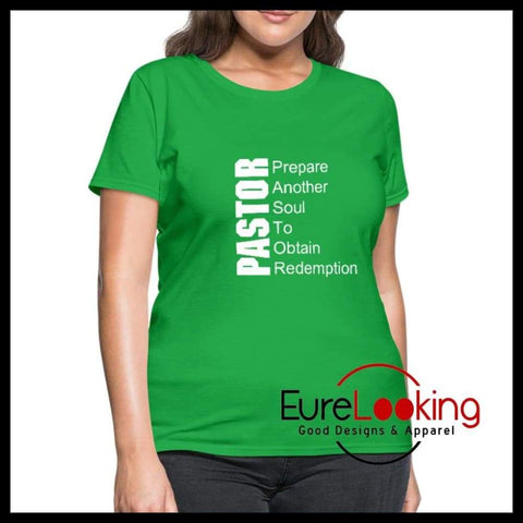 PASTOR Women's T-Shirt Eure_Looking_Good_Apparel bright green S