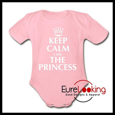 Princess Short Sleeve Baby Bodysuit Eure_Looking_Good_Apparel light pink Newborn