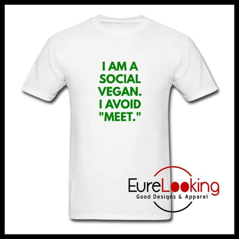 Social Vegan- T-Shirt Eure_Looking_Good_Apparel white S