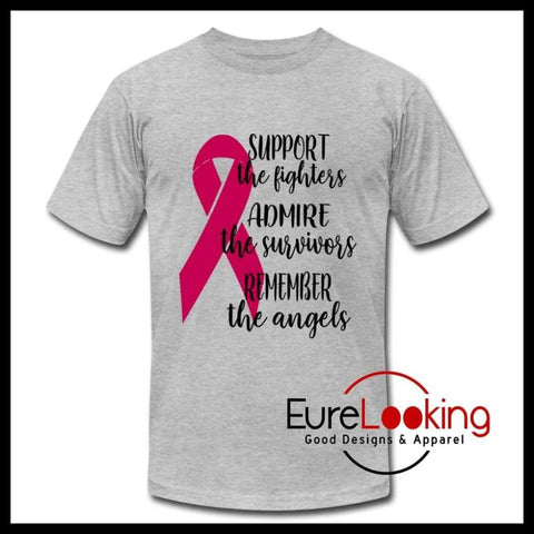 Support, Admire, Remember- Breast Cancer Awareness Eure_Looking_Good_Apparel heather gray S