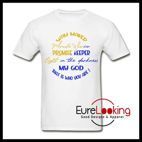 Waymaker, Promise Keeper Eure_Looking_Good_Apparel white S