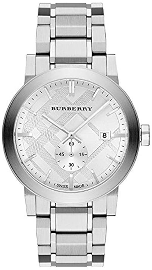 BURBERRY The City Silver Dial Stainless Steel Men's Watch BU9900