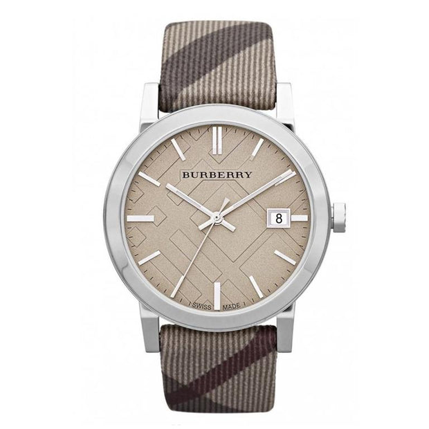 Burberry Heritage City Brown Check Stainless Steel BU9023