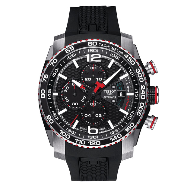 TISSOT PRS 516 Black Dial Chronograph Men's T079.427.27.057.00